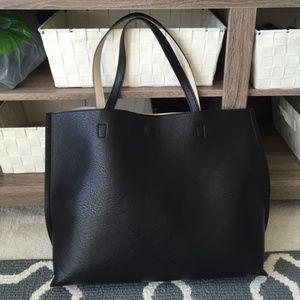 Handbags - Faux leather large shoulder bag